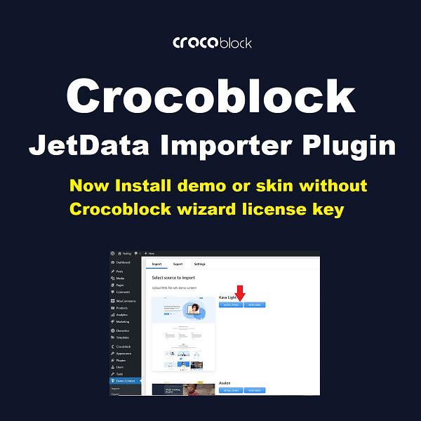 JetData Importer - Crocoblock Demo Importer Plugin